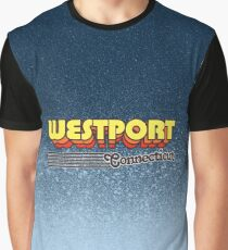 Westport, Connecticut | Retro Stripes Graphic T-Shirt