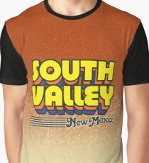 South Valley, New Mexico | Retro Stripes Graphic T-Shirt