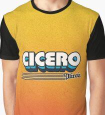 Cicero, Illinois | Retro Stripes Graphic T-Shirt