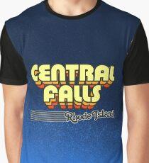Central Falls, Rhode Island | Retro Stripes Graphic T-Shirt