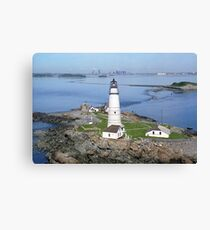 Aerial view of Boston Light Canvas Print
