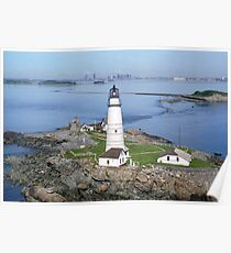 Aerial view of Boston Light Poster
