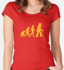 Robot Evolution Women's Fitted Scoop T-Shirt
