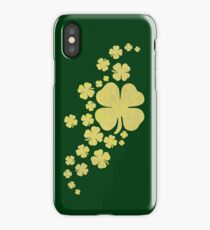 Goldener Klee gold Kleeblätter St Patricks day iPhone Case/Skin