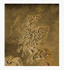 Map of Scotland Photographic Print
