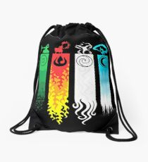 Elemental Bending: Avatar Drawstring Bag