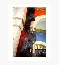 Spiral Stairs QVB Art Print