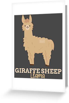 Funny animal name meme giraffe sheep llama greeting cards by funny animal name meme giraffe sheep llama by porcodiseno m4hsunfo
