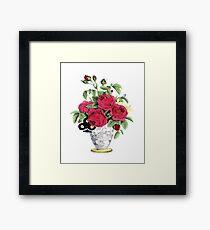 Vase Of Roses Framed Print