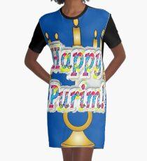 Happy Purim! Esther, King Ahasuerus, Vizier Haman, Torah, Mordecai, drinking feast Graphic T-Shirt Dress