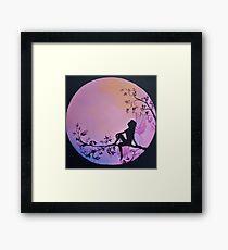 Fairy Moon fairies and the Moon Framed Print
