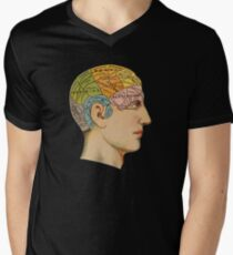 Phrenology Chart Men's V-Neck T-Shirt
