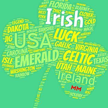 Irish Shamrock filled with magic by martynesmerch
