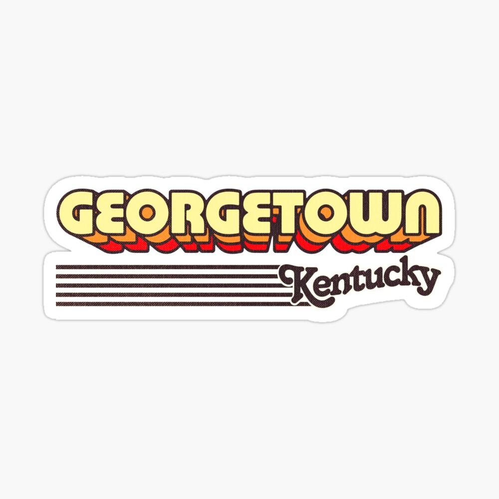 Georgetown, Kentucky | Retro Stripes Sticker