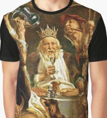 Happy Purim! Esther, King Ahasuerus, Vizier Haman, Mordecai, Torah, drinking feast Graphic T-Shirt