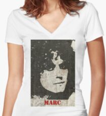 Graffiti art: Marc Women's Fitted V-Neck T-Shirt