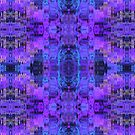 Abstract Glitch Effect in Purple by Lyle Hatch