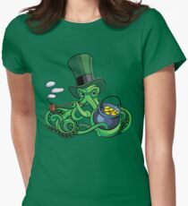 Octopus the Suspicious Leprechaun Women's Fitted T-Shirt