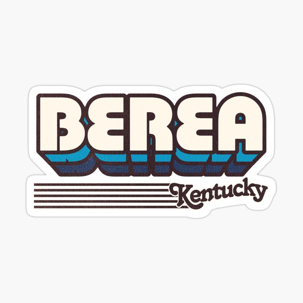 Berea, Kentucky | Retro Stripes Sticker