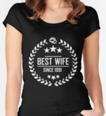 best wife since 1991 - 27th anniversary gift for her Women's Fitted Scoop T-Shirt