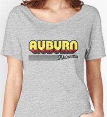 Auburn, Alabama   Retro Stripes Women's Relaxed Fit T-Shirt