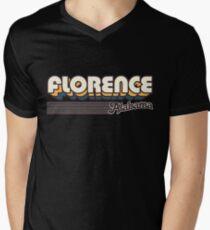 Florence, Alabama   Retro Stripes Men's V-Neck T-Shirt