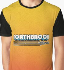 Northbrook, Illinois   Retro Stripes Graphic T-Shirt