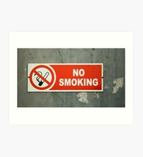 No Smoking sign on an old wall Art Print