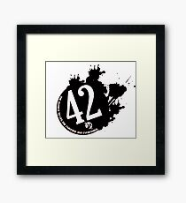42 is the Answer - The Hitchhiker's Guide to the Galaxy Framed Print