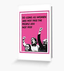Feminist Freedom  Greeting Card
