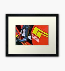 Red Roar Framed Print