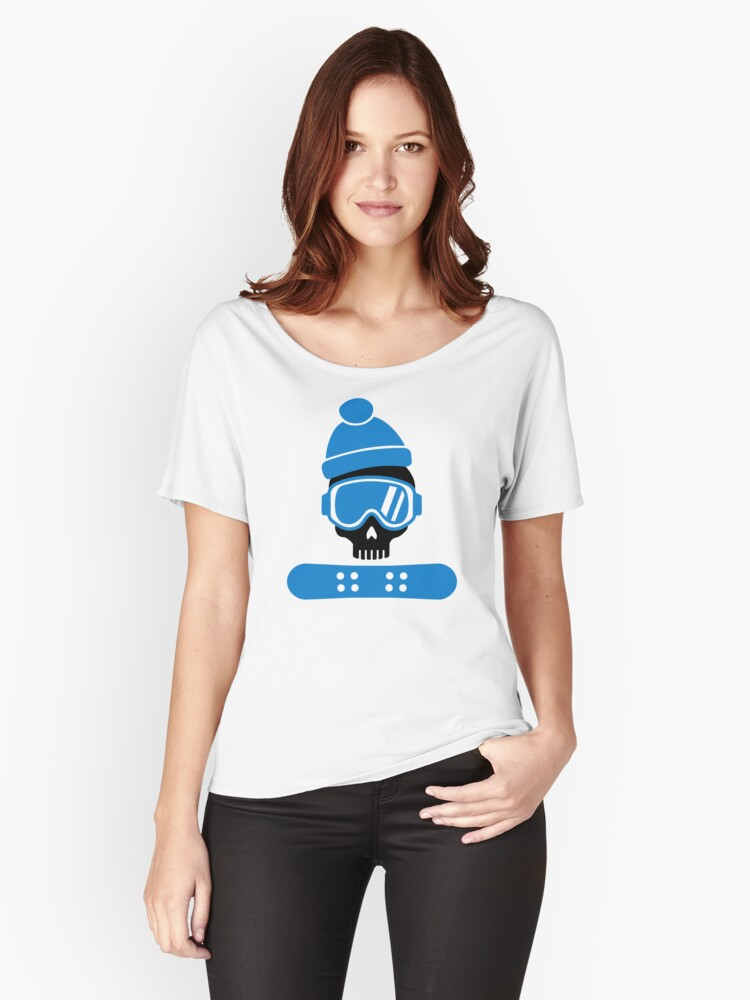 Snowboard skull Women's Relaxed Fit T-Shirt Front