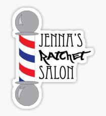 Pegatina Salón de trinquete de Jenna