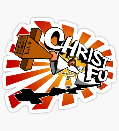 Christ Fu - Love Thy Unconscious Enemy Sticker