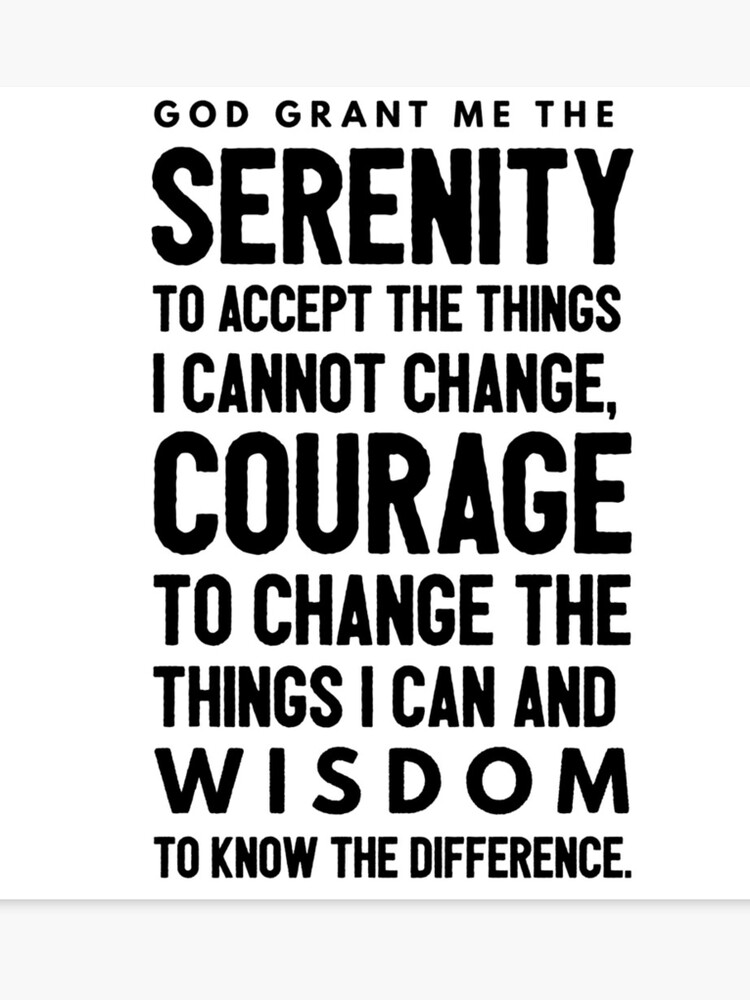 graphic relating to Serenity Prayer Printable identified as Serenity Prayer Items Canvas Print