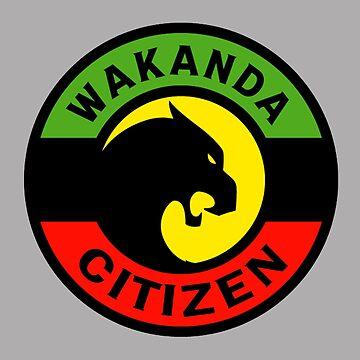 Wakanda Citizen Emblem Africa Black Panter by Drewaw