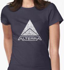 ALTERRA white logo Women's Fitted T-Shirt