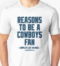 No Reasons To Be a Dallas Cowboys Fan, Cowboys Suck, Funny Gag Gift Unisex T-Shirt
