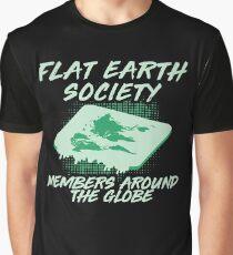 Flat Earther - Flat Earth - Secret Society - Flat Earth Society - Flat Earth Vinyl - Flat Earth Sticker - Planet Earth - Earth Shirt Graphic T-Shirt