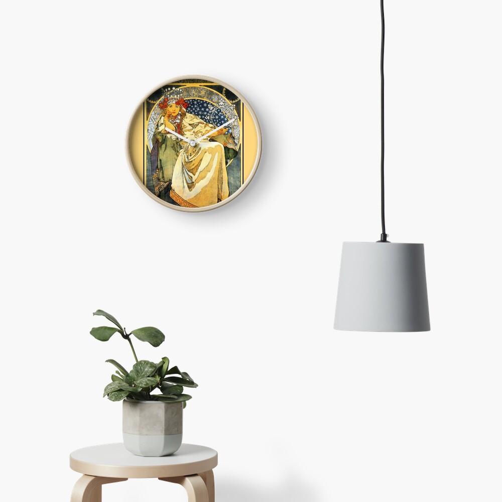 Alfons Mucha Princess Hyacinth Clock