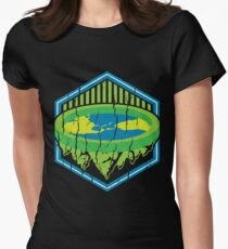 Flat Earth - Flat Earth Society - Earth Tones - Earth Tone - Earth Day - Historic Map - Planet Earth - Ea Women's Fitted T-Shirt