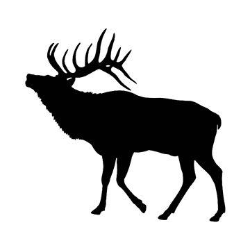Elk Silhouette de Zboydston17
