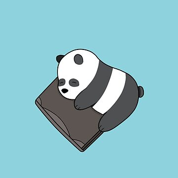 Baby Pan Pan Sleeping with Laptop - We Bare Bears Cartoon  by DomCowles12