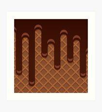 Chocolate Waffle Art Print