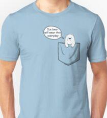 Ice Bear Will Wear This Everyday - We Bare Bears Cartoon Pocket Unisex T-Shirt