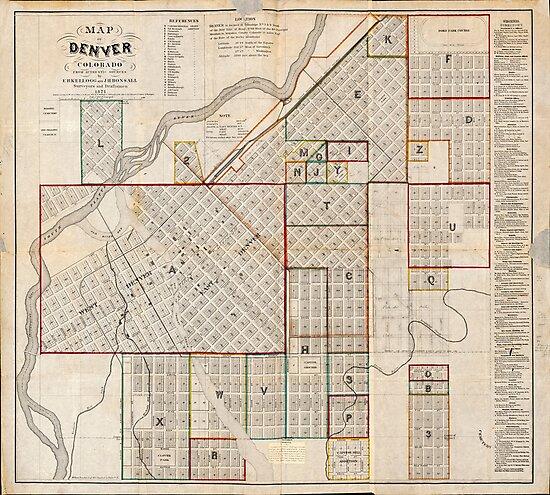 Map of Denver, Colorado (1871)\
