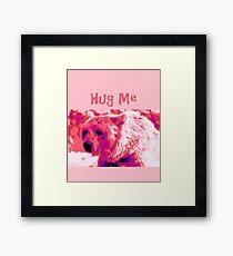 Hug Me - Bear Framed Print
