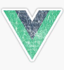 Vintage Vue VueJS Vue.js JavaScript Framework Sticker