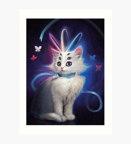 Buttons the Cat Art Print
