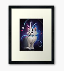 Buttons the Cat Framed Print